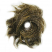 GIZZY® Ladies Girls Medium Brown Light Ends Fake Hair Scrunchy on a Ponio Band