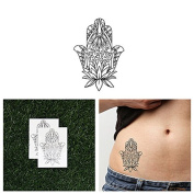 Tattify Lotus Hamsa Temporary Tattoo - Solace