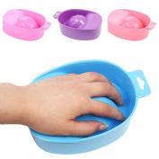 VANKER Professional Nail Art Soak Pedicure DIY Salon Powder Polish Remover Bowl Manicure Tray