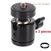 Eggsnow 0.6cm Mini Tripod Ball Head Bracket Holder Mount Ballhead for DSLR Camera-2pcs