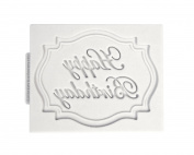 Happy Birthday Mini Plaque Katy Sue Designs Silicone Mould for Cake Decorating Cupcakes Sugarcraft and Candies