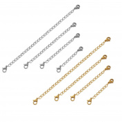 Jstyle Stainless Steel Extender Chain for Necklace Bracelet Set of 8 Jewellery Extenders