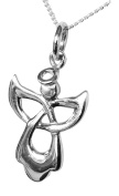Sterling Silver 'Children's Celtic Guardian Angel' Necklace by Amore Angeli
