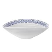 Sophie Conran Florence Salad Bowl, Blue/White, Medium