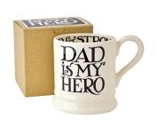 Emma Bridgewater - Black Toast 'Dad is my Hero' 1/2 Pint Mug, Boxed