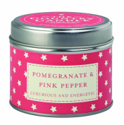 """The Country Candle Company Superstars Collection """"Pomegranate and Pink Pepper"""" Candle in Tin, Multi-Colour"""