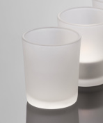 Candle glass Promo conical frosted 65cm Ø 55cm by Sandra Rich