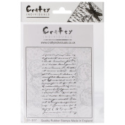 Crafty Individuals Unmounted Rubber Stamp 12cm x 18cm Pkg-French Script