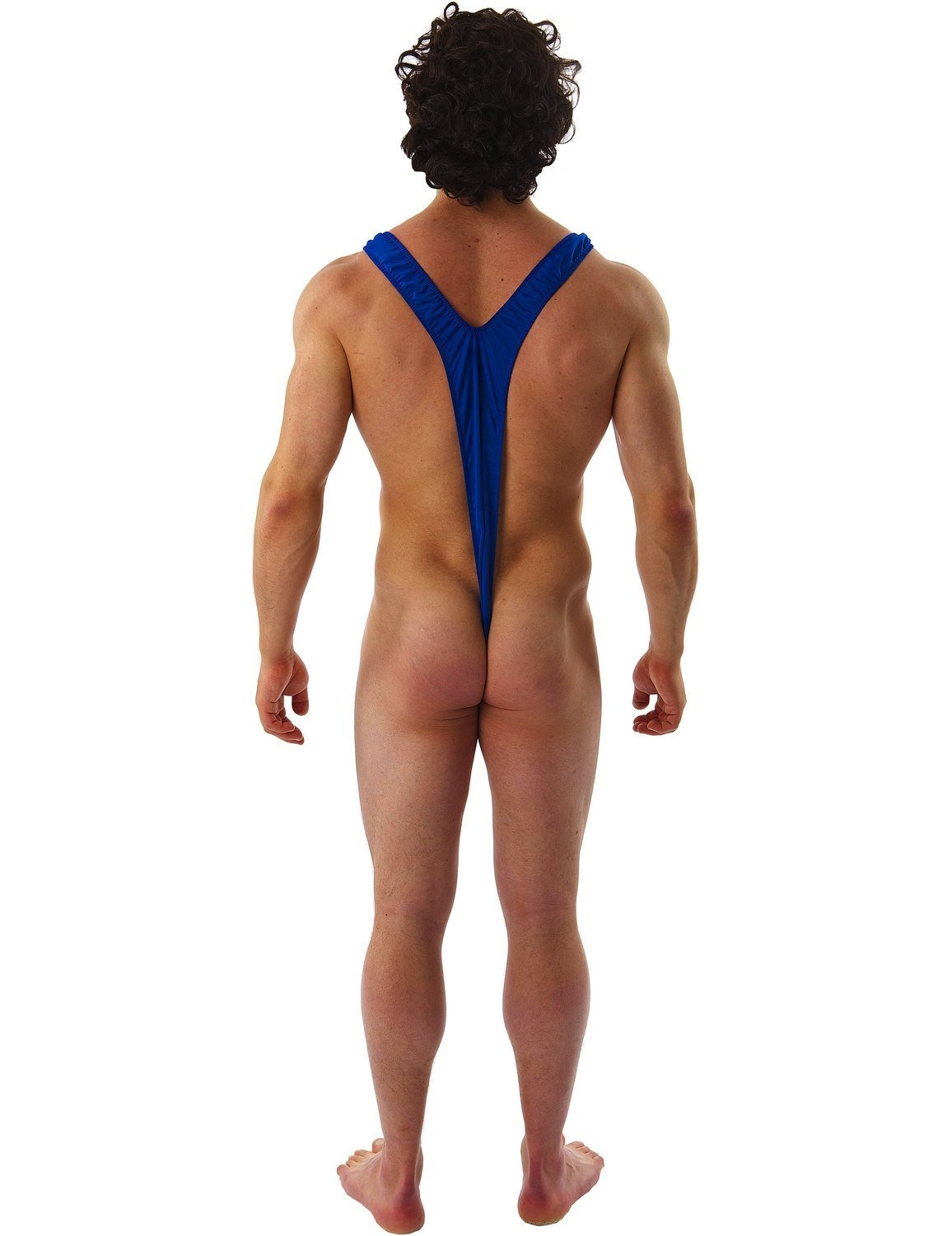 3031218ae1 Borat Mankini Thong Swimsuit (Blue) by fancy dress warehouse - Shop ...
