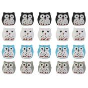 20pcs Miniature Landscape Garden Decor Ornaments Owls