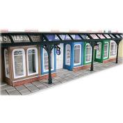 Metcalfe Models PO572 00/H0 Arcade Shop Fronts Mini Card Kit by Metcalfe Models