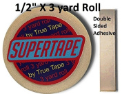 Supertape 1.3cm X 3 yard roll Double side adhesive with Plastic Storage Case