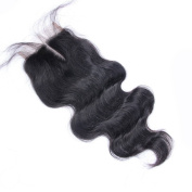 Beata Hair Brazilian Lace Closure Body Wave 41cm Middle Part Human Hair Closure Bleached Knots with Baby Hair