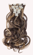 24 Inches(61cm) 8pcs Long Full Head Clip in Hair Extensions Extension Sexy Lady Fashion Choice Curly dark brown & ash blonde