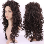 S-noilite 70cm Afro Deep Kinky Curly Wig Heat Resistant Synthetic Hair Wigs For Black Women Ladies Costume Cosplay