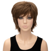 Wig Natural Short Straight Dark Brown Women Synthetic Anime Cosplay Party Wigs