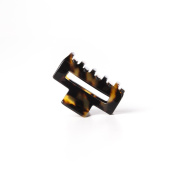 Ficcare Small Open Rectangle Jaw Clip Yellow Tokyo