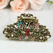 Beautyxyz Woman's new butterfly design XLarge 8.9cm metal rhinestones hair clip claws