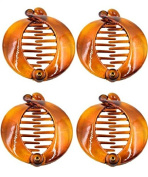 Beauty Assorted Side Combs Hair Clip Comb Pin Round Banana Clips