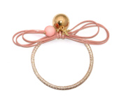 Leather Rope Clever Ball Starfish Elastic Tie Ponytail Holder (Made In Korea)