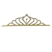 "Rosemarie Collections Women's Bridal Tiara Gold Tone ""Crystal Princess Tiara"""
