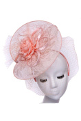 Womens Fashion Floral Fascinator w/ Veil