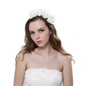 New arrival Elegant Rose Hair Band Crown for Wedding Party Prom