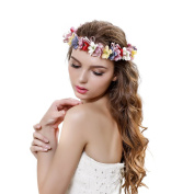 Flower Wreath Headband Floral Crown Garland Halo for Wedding Festivals