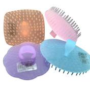 4 PCS Hair Brush Body Brush Hair Combs Shampoo Scalp Scrubber Colour by Random