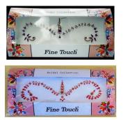 Lightahead® 2 LARGE PACK BOLLYWOOD HEAD BINDI TATTOO INDIAN ART RHINESTONE STICKON REUSEABLE