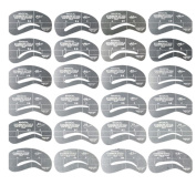 Fullkang 24 Styles Eyebrow Shaping Stencils Grooming Kit Makeup Shaper Set Template Tool