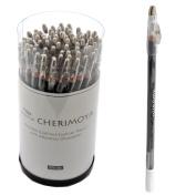 Cherimoya Wooden Eyeliner Lipliner Pencil 72 Pcs - White