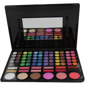 Healthcom Professional 78 Colours Eyeshadow Combination Pallet Eye Shadow Palette Cosmetic Makeup Kit Set with Blush, Highlighters and Liner Shades