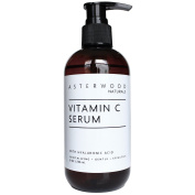 Asterwood Naturals Vitamin C Serum with Organic Hyaluronic Acid - Lighten Sun Spots, Anti Ageing, Anti Wrinkle - Face Moisturiser - Leaves Skin Full & Plump - Intense Hydration in a Bottle