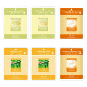 Special Treatment Mask Brightening - Coenzyme - Snail Essence Face Facial Mask Package 6pcs - Korean Cosmetic Facial Beauty