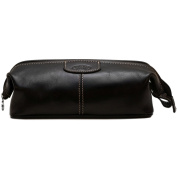 Floto Venezia Dopp Kit in Black Full Grain Leather
