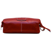 Floto Venezia Dopp Kit in Tuscan Red Full Grain Leather