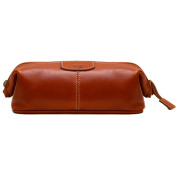 Floto Venezia Dopp Kit in Olive Brown Full Grain Leather