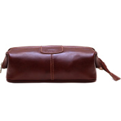 Floto Venezia Dopp Kit in Brown Full Grain Leather