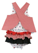 Stephan Baby Row Your Boat Reversible Top and Ruffled Nappy Cover, 6-12 Months