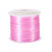 Pandahall 1 Roll 0.8mm Pink Elastic Stretch Polyester Jewellery Bracelet Crystal String Cord