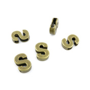 160 Pieces Jewellery Making Charms Findings Antique Bronze Brass Fashion Jewellery Wholesale Supplies Pendant Lots Bulk Supply HU029 Alphabet Letter S Loose Beads