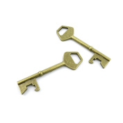 100 Pieces Jewellery Making Charms Findings Antique Bronze Brass Fashion Jewellery Wholesale Supplies Pendant Lots Bulk Supply ZA087 Skeleton Key