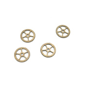 1520 Pieces Jewellery Making Charms Findings Antique Bronze Brass Fashion Jewellery Wholesale Supplies Pendant Lots Bulk Supply QK035 Gear Wheel Cog Steampunk