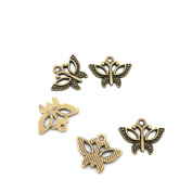 680 Pieces Jewellery Making Charms Findings Antique Bronze Brass Fashion Jewellery Wholesale Supplies Pendant Lots Bulk Supply S7IF1 Butterfly