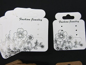 JD2 100 Pcs White Earring Display Card & 100 pcs Resealable Clear Hang Bag 5x5 cm Jewellery Display Packaging US Seller Ship Fast