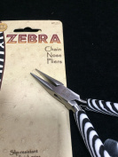 BeadSmith Zebra Chain Nose Pliers, High Polished Steel
