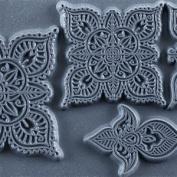 Cool Tools - Flexible Texture Tile - Mehndi Elements - 10cm X 5.1cm