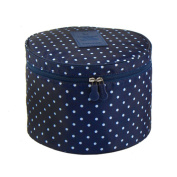 Fakeface Cute Compact Design Round Toiletry Cosmetic Travel Bag