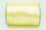 CHAMPAGNE YELLOW 2mm Rattail Satin Cord Shamballa Macrame Beading Nylon Kumihimo String